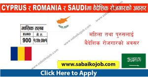 Read more about the article Jobs in Cyprus Romania and Saudi Arabia
