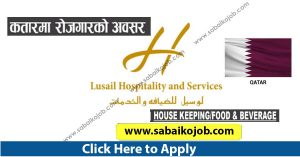 Read more about the article Candidate required for LUSAIL HOSPITALITY AND SERVICES