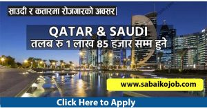 Read more about the article Career Building Opportunity In Saudi & Qatar With High Salary
