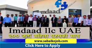 Read more about the article Recruiting for IMDAAD L.L.C DUBAI
