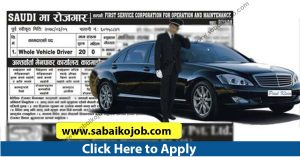Read more about the article Career Opportunity in Saudi, Position For Driver