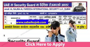 Read more about the article Job Alert ! Vacancy Announcement From Security Guard